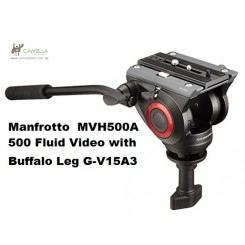 Manfrotto  MVH500A 500 Fluid Video Head with 60mm half ball with G-V15A3 Aluminium leg