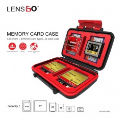 Lens Go KH8S Memory Card Case Shatterproof Waterproof 26 card slot for 8TF/8SD/3CF/1QXD/2SIMCard /2MICRO SIM/2NANO SIM Organizer box
