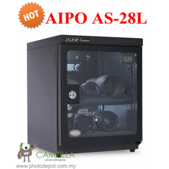AIPO ANALOG SERIES AS-28L DRY CABINET (28L) - BLACK