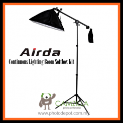 Airda T-553 Photo Studio Boom Arm Soft Box Lighting Light Kit Set