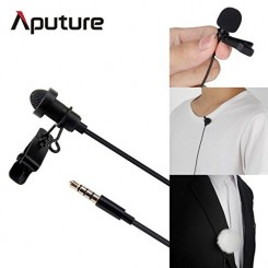 Aputure A.lav Omnidirectional Lavalier microphone used with mobilerecorder adapter