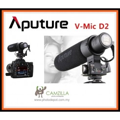 Aputure V-Mic D2 Sensitivity Adjustable Directional Condenser Microphone for Canon Nikon Sony Camera DV