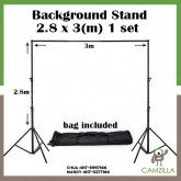 BGS Adjustable 3x2.8m Pro Portable Heavy-Duty Backdrop Support System Kit 3m * 2.8m- Tripod is adjustable + Carry Bag