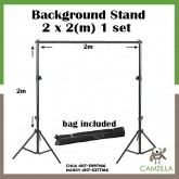 Studio Background Stand Support Tripod 2 x 2 M Portable Handle Kit 200 CM