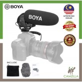 BOYA BY-BM3031 Supercardioid Condenser Interview Microphone Camera Video Mic for Canon Nikon Sony DSLR