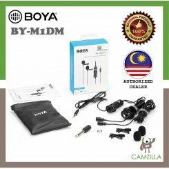 BOYA BY-M1DM Dual Omni-directional Lavalier Microphone Lapel Clip-on Microphone