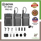 BOYA BY-WM4 PRO K2 UNIVERSAL LAVALIER WIRELESS MICROPHONE FOR CAMERA NIKON/SONY/CANON/SMARTPHONE
