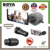 BOYA BY-DM100 Digital Stereo Cardioid Condenser Microphone Superb Sound for Android USB Type-C Devices Recording Mic Smartphone Microphone Type C (Ship from Malaysia)