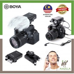 BOYA BY-SM80 Stereo X/Y Condenser Microphone with Integrated Shock Mount Cold-shoe Mount and Windshield for DSLR Cameras and Video Cameras(Black)