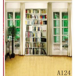 Essential Studio Equipment : Mirage Bookshelf library Backdrops ( Paper ) - A124