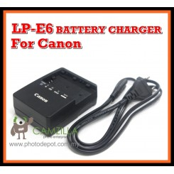 3rd party LP-E6 Charger for Canon EOS 60D , 6D , 7D , 5D Mark II , 5D Mark III