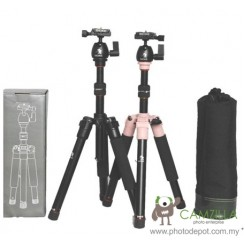 BEIKE BK-555 PINK Professional Travel Tripod Kit Complete With Ball Head & QR