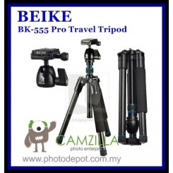 BEIKE BK-555 Pro Camera Tripod Kit with Ball Head for Camera DSLR