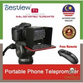 BESTVIEW T1 Smartphone Teleprompter for DSLR Cameras