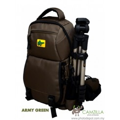 Big Zoomer - Army Green Zoomer Lite Camera Bag / Backpack