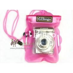 Bingo WP01 Polyvinylchlorid Waterproof Digital Camera Bag 【Pink】