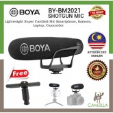 Boya BY-BM2021 Super Cardioid Shotgun Video Microphone for DSLR Camera Camcorder/Smartphone FREE Universal Mini Tripod