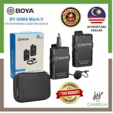 Boya Microphone Wireless BY-WM4 Mark II for DSLR and Smartphone