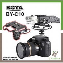 BOYA BY-C10 Universal Microphone and Portable Recorder Shock Mount - Fits the Zoom H4n, H5, H6, Tascam DR-40, DR-05, DR-07