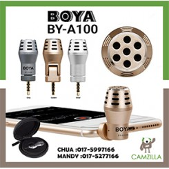 BOYA BY-A100 Omni Directional Condenser Microphone for IOS Android Smartphones