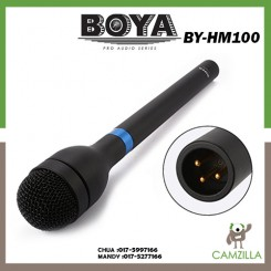 BOYA BY-HM100 Omni-Directional Wireless Handheld Dynamic Microphone XLR Long Handle for ENG & Interviews & News Gathering and Report