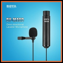 BOYA BY-M40D Omni-Directional Lavalier Microphone for Sony Panasonic Camcorder ZOOM H4n H5 H6