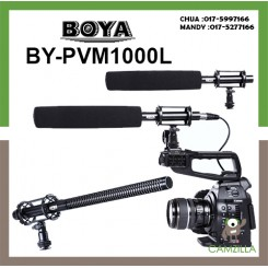 BOYA BY-PVM1000L Condenser Shotgun Microphone 3-pin XLR Output on DSLR Camera
