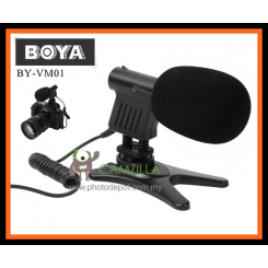 BOYA BY-VM01 Pro DV Stereo Microphone For Video Camcorder & DSLR