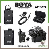 BOYA BY-WM4 Professional Universal Wireless Lavalier Microphone System for Canon Nikon Sony Panasonic DSLR Camera Camcorder and IOS Iphone Android Smartphone