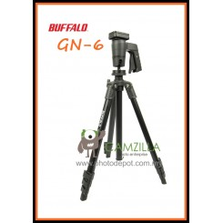 Buffalo GN-6 Travel Pro Tripod Photo Video Movie Kit - Black