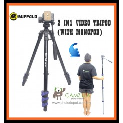 BUFFALO TRM-123 2 IN1 VIDEO TRIPOD (WITH MONOPOD)