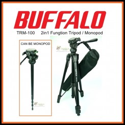 Buffalo TRM-100 Professional Travel Camera Tripod and Become Monopod 2 in 1