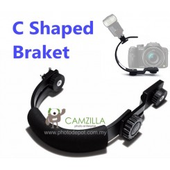 Camzilla C-Shape flash bracket for DV Camcorders DSLR Camera