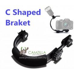 Camzilla C-Shape flash bracket for DV Camcorders DSLR Camera