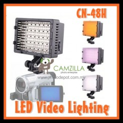 Camzilla Pro CN-48H LED Camera Video lamp Light for DV Camcorder & Dslr