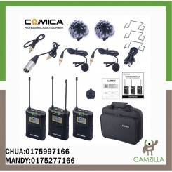 COMICA CVM-WM100 PLUS UHF 48-Channels Wireless Microphone with Dual-Transmitter and One Receiver.