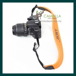 Orange Neoprene Neck Strap for Canon , Nikon , Sony 【SR-OR1】