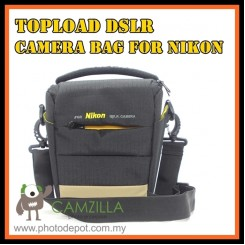 CAMZILLA N-SERIES TRIANGLE SHOT TOPLOAD DSLR CAMERA BAG - 0944 NIKON - BLACK