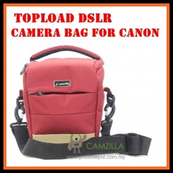 CAMZILLA C-SERIES TRIANGLE SHOT TOPLOAD DSLR CAMERA BAG - 0944 CANON - RED
