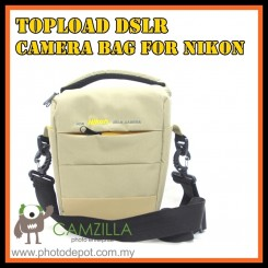 CAMZILLA N-SERIES TRIANGLE SHOT TOPLOAD DSLR CAMERA BAG - 0944 NIKON - Brown