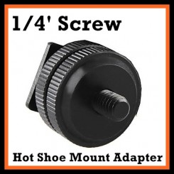 Tripod 1/4' Screw For DSLR Camera Flash Hot Shoe Mount Adapter Mic Monitor