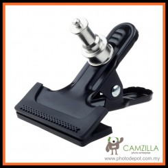 "Camzilla Metal Clamp Strong Clip With 1/4"" Screw Adapter for DSLR Flash Light Stand"