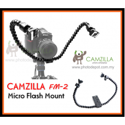 Camzilla FM-2 Flexible Dual-arm Dual-shoe Flash Bracket for MACRO