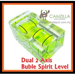 Hot Shoe Bubble Level / twin axis spirit level to mount to camera