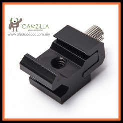Camzilla Cold Shoe Hot Shoe To 1/4 Thread Screw Flash Bracket Mount Adapter Trigger