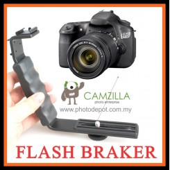 Camzilla Metal L-Shape Flash Bracket Flashlight Camera Holder Mount Speedlite DSLR SLR