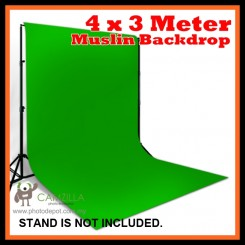 Camzilla 4x3 Meter Photography Muslin Photo Double Backdrop Background - Solid Green