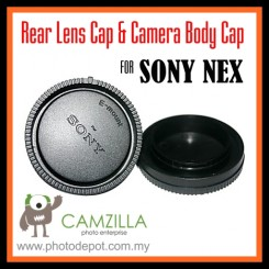 Rear Lens Cap & Camera Body Cap for Sony NEX-7 NEX-3 NEX-5 VG10