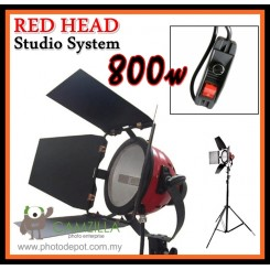 Camzilla 1 x 800W Red Head Variable Adjustment Continuous Light System - With Stand