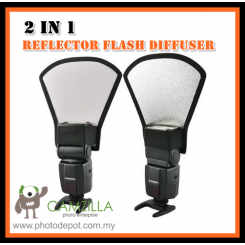 Reflector Flash 2in1 diffuser softbox silver / white f Canon Nikon Sony Nissin Yongnuo & Other